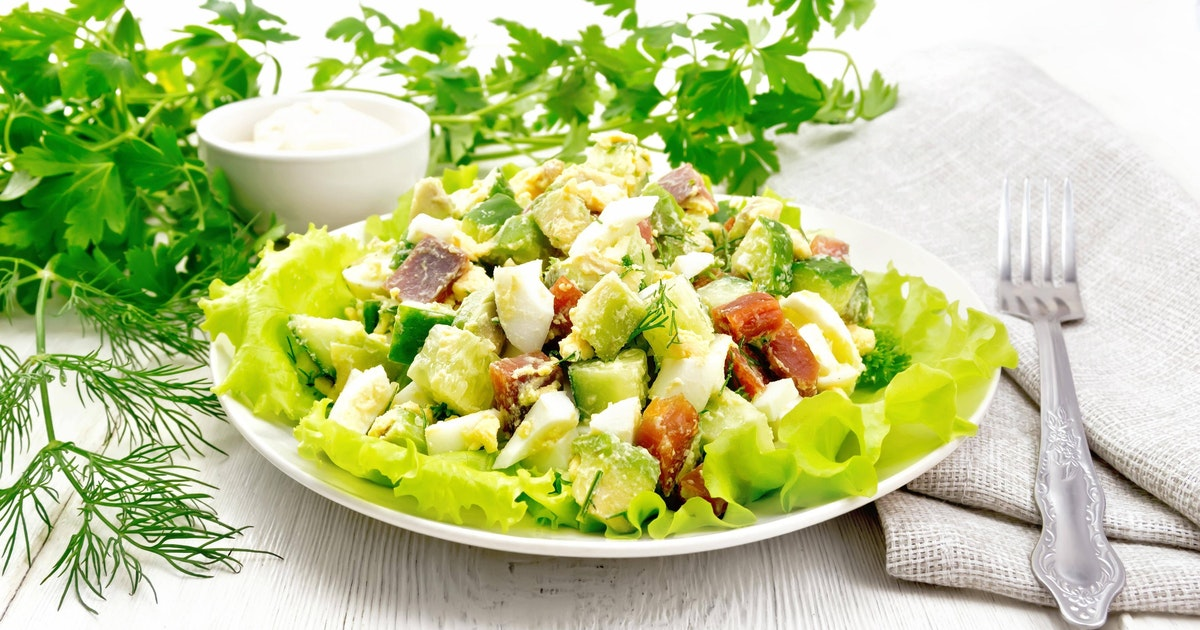 Perfektes Rezept für Eier-Avocado-Salat! Geht ganz einfach und schmeckt so gut