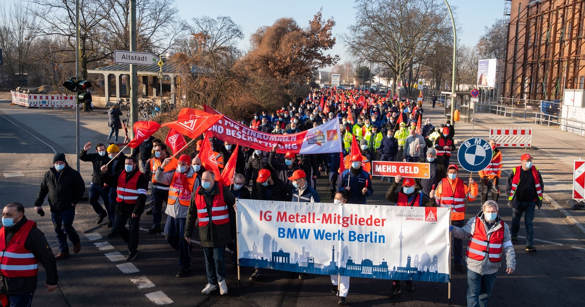 Berlin: Weitere Warnstreiks der Elektro- und Metallindustrie