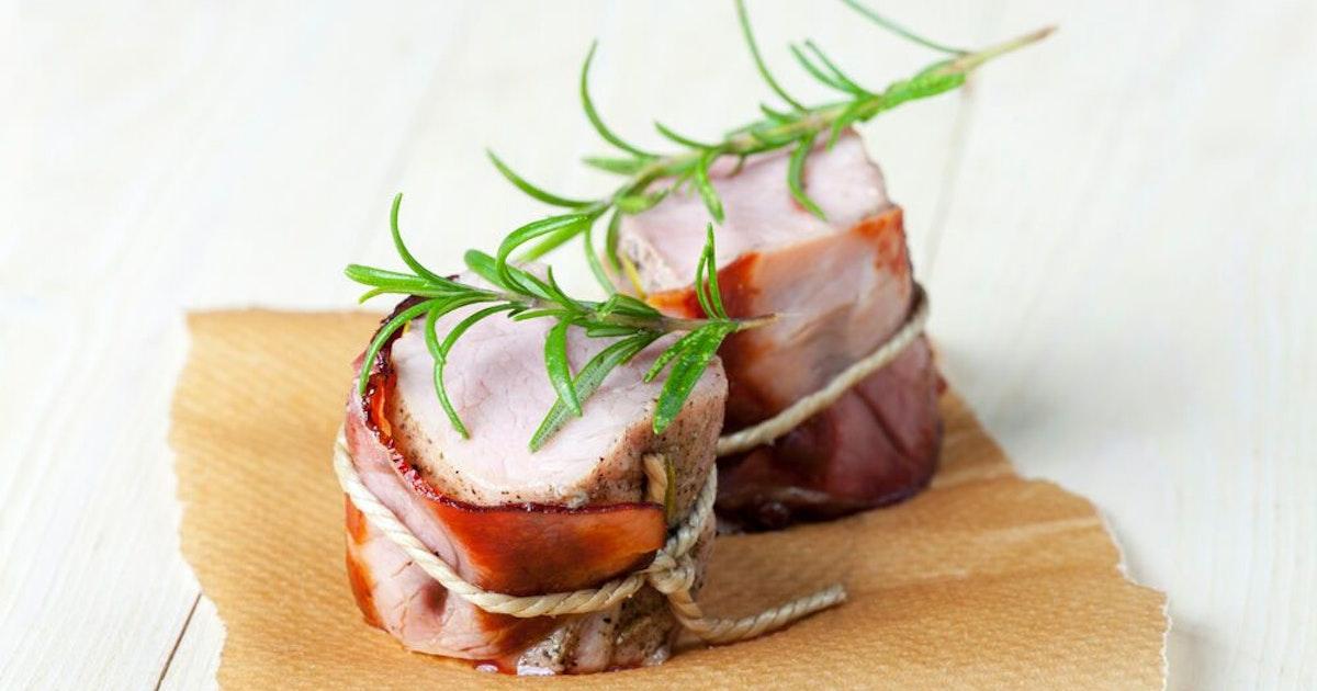 Geschmackshochzeit in salzig-süß: Schweinefilet im Speckmantel